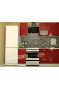 Валерия-М-02 Бордовый глянец, , 24,100 руб., Валерия-М-02,  BRAVO, Модульные кухни