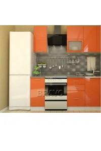 Кухня Валерия-М-02 оранжевый глянец, , 24,100 руб., Валерия-М-02,  BRAVO, Модульные кухни
