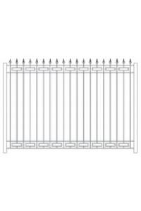 Забор с прямоугольником,тр.15, , 0 руб., Забор с прямоугольником,тр.15, Протект ковка, Заборы