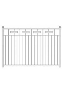 Забор с прямоугольником,тр.20 , , 0 руб., Забор с прямоугольником,тр.20 , Протект ковка, Заборы
