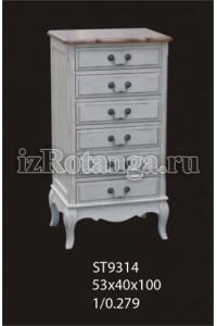 """Высокий комод """"Леонтина"""", , 32,606 руб., Леонтина, Mobilier de maison, Мебель для спальни """"Прованс"""""""