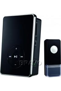Звонок DBQ09M WL MP3 16M Черный, , 3,090 руб., Звонок DBQ09M WL MP3 16M ,  BRAVO, Дверные звонки